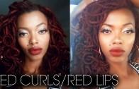 CLASSIC RED LIPS & BOUNCY CURLS| GRWM