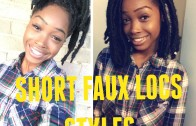How To Style Short Faux Locs( Marley Hair)