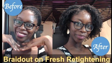 Braidout on Fresh Retightening || Sisterlocks